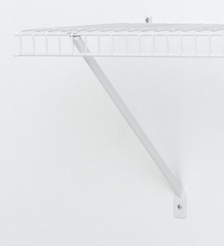 ClosetMaid 16-Inch Shelf Support Brackets, White, #1776