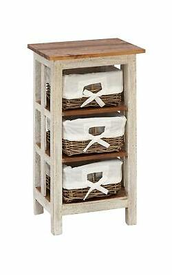 """Deco 79 38301 Solid Wood Rattan Side Table, 29"""" x 15"""""""
