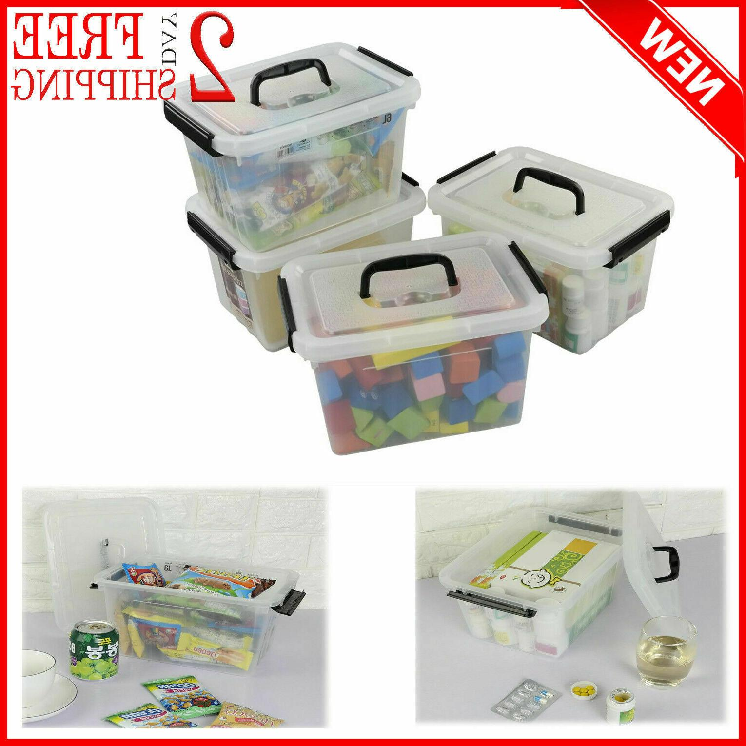 Latch Storage Box with Black and - 4