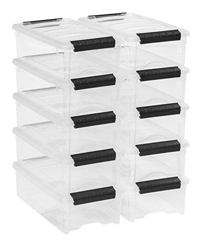 IRIS USA, Inc. Stackable Storage Box, 10 Pack,