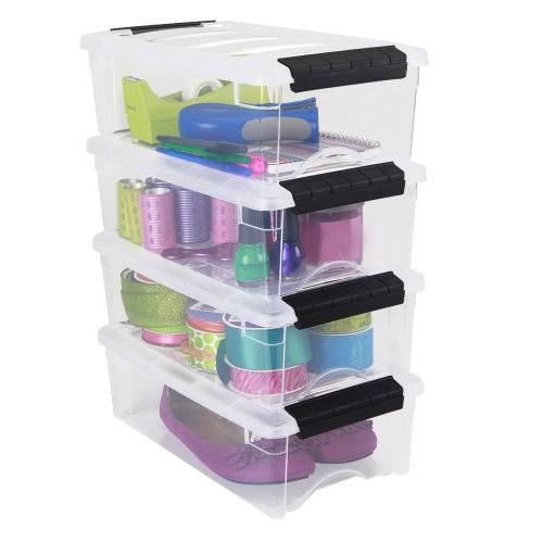 IRIS Stackable Clear Storage Box, 10