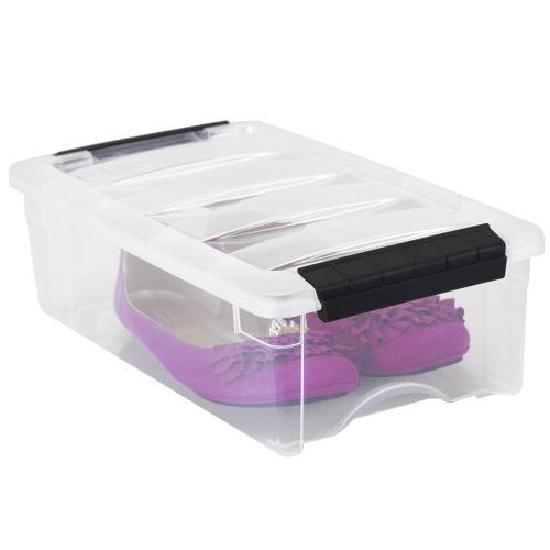 IRIS Stackable Clear Storage 10 5
