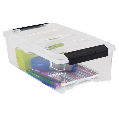 IRIS USA, Inc. Stackable Clear Box, 10 Quart