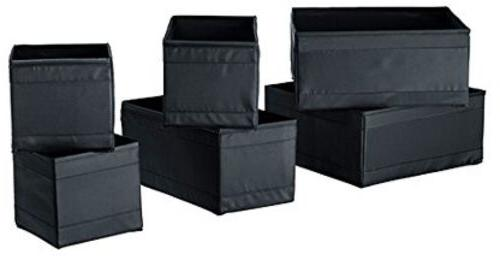 Ikea Drawer Storage Organizer Closet Box Bins Skubb  Black