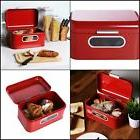Juvale Bread Box For Kitchen Counter - Red Retro Bread Conta