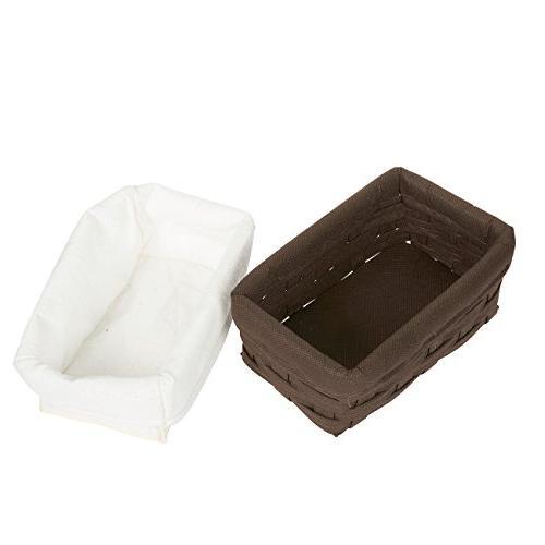 Juvale Basket - 5-Piece Chocolate Organizing Baskets, Baskets Bathroom - Small, Medium, 1 Large