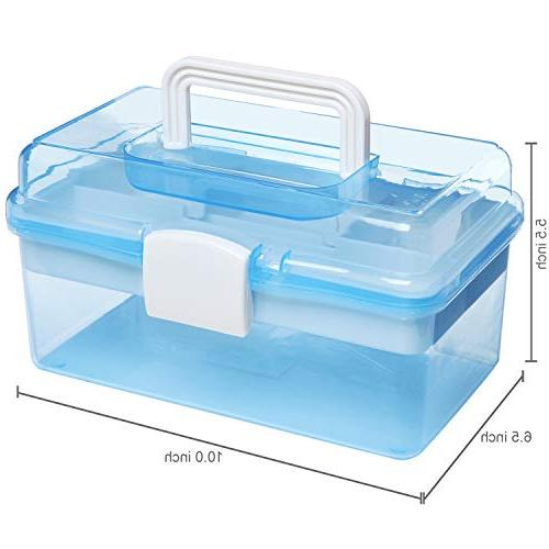 """MyGift 10"""" Light Blue Multipurpose Portable Handled w/Removable Tray"""