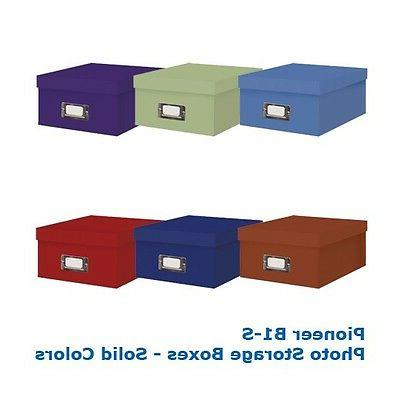 """PHOTO STORAGE BOXES, HOLDS OVER 1,100 PHOTOS UP TO 4""""X6"""""""