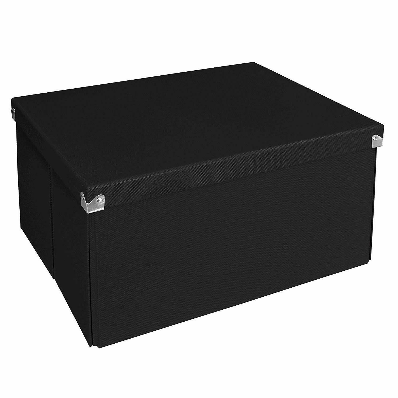 Samsill PNS06LSBK Pop n' Store Decorative Storage Box with L