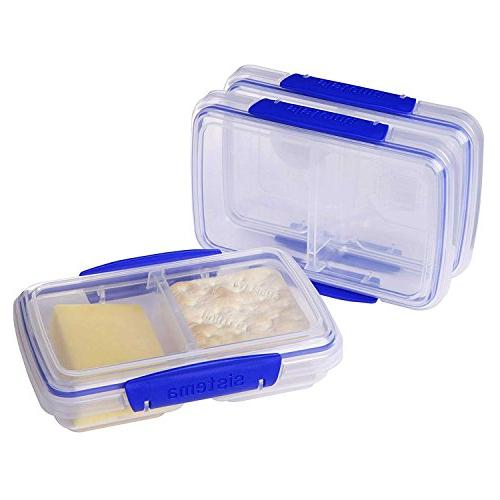 Sistema KLIP IT Collection Food Container, L, Clear/Blue,