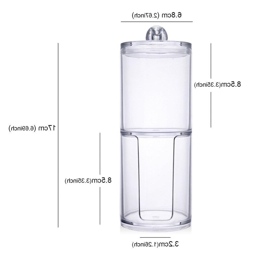 Acrylic Qtip <font><b>Container</b></font> Makeup Cotton Pad Makeup Tool Jewelry Case <font><b>Container</b></font> New