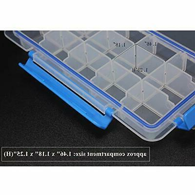 Adjustable Plastic Divider Storage Box Container for Button, Small small