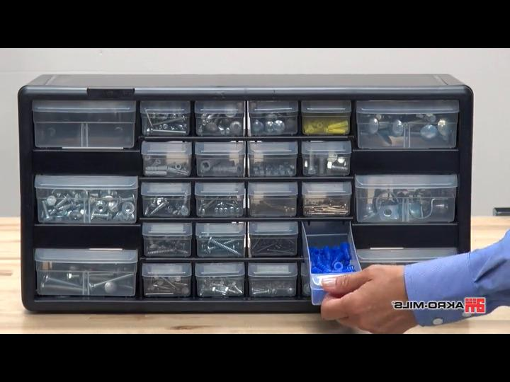 Akro-Mils 10126 26 Drawer Plastic Parts and 20-I