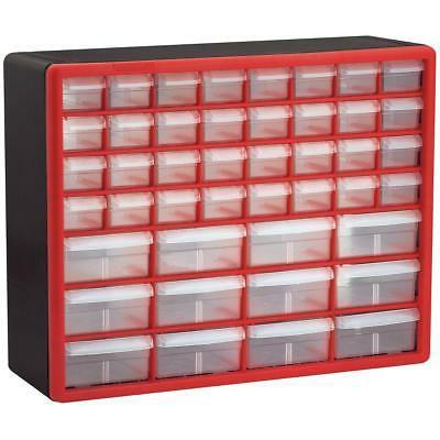 Akro-Mils 10144REDBLK 44-Drawer Hardware Craft Plastic Cabin