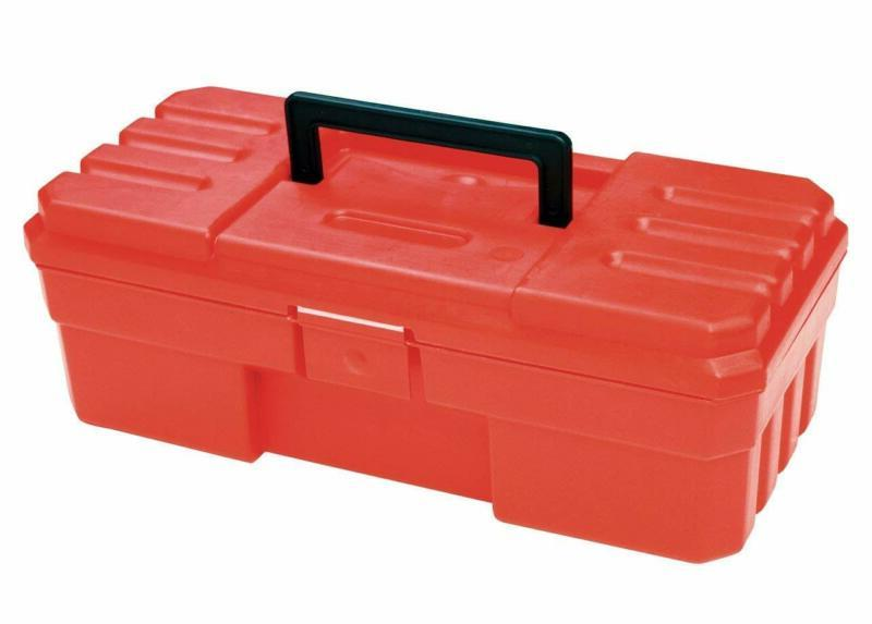 Akro-Mils 9912 12-Inch Probox Plastic Tool Box, Red