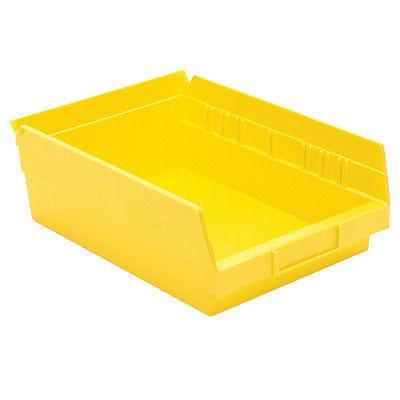 Akro-Mils Shelf Bin 11-5/8D x 8-3/8W 4H Yellow  12 pack