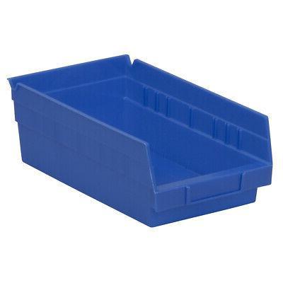 Akro-Mils Shelf Bin 11-5/8D x 6-5/8W x 4H Blue  12 pack