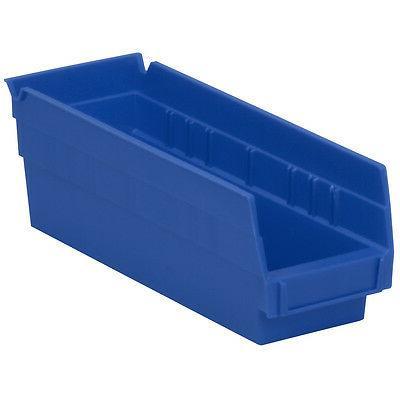 Akro-Mils Shelf Bin 11-5/8D x 4-1/8W x 4H Blue  24 pack