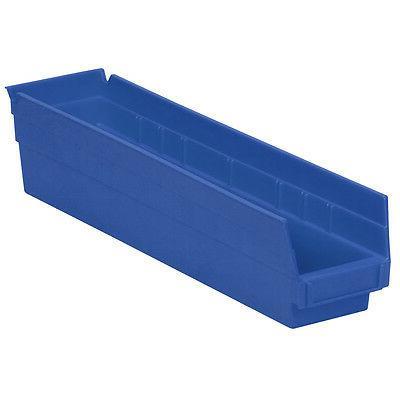 Akro-Mils Shelf Bin 17-7/8D x 4-1/8W x 4H Blue  12 pack