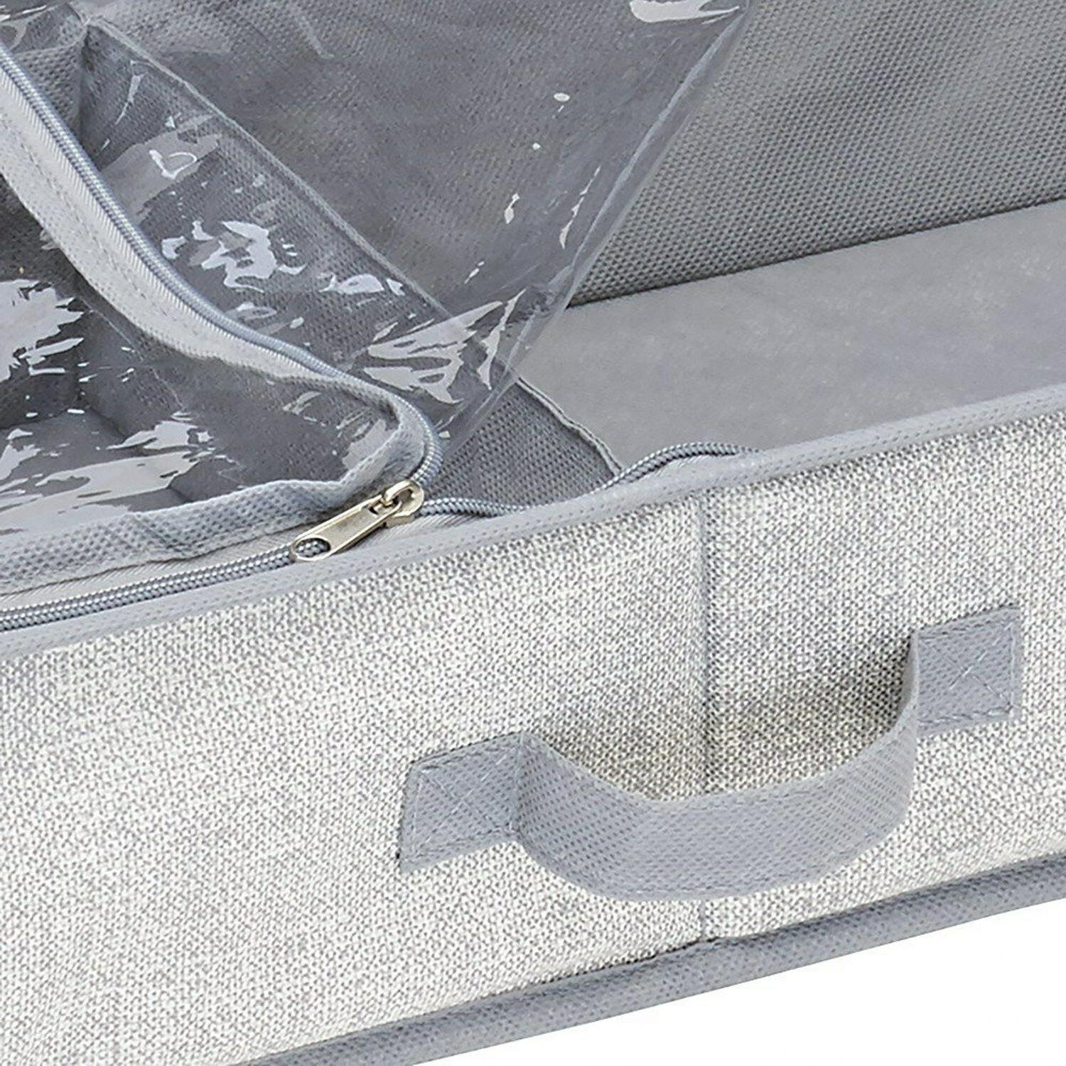 InterDesign 4 Compartment Under Bed Box Polypropylene Imported