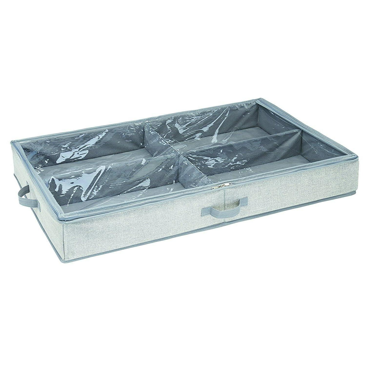 aldo 4 compartment under bed storage box