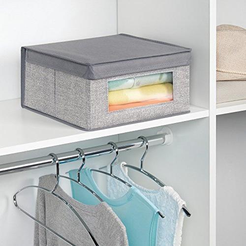 InterDesign Aldo Fabric Closet Storage Organizer Clothing, -