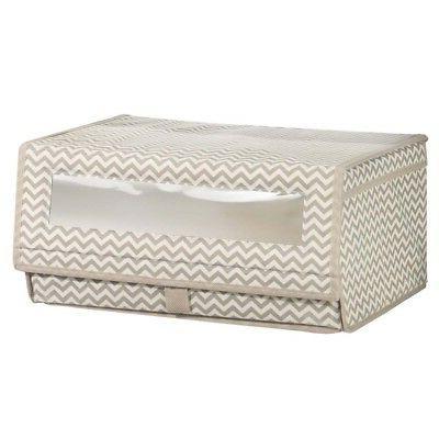aldo fabric storage box with clear window