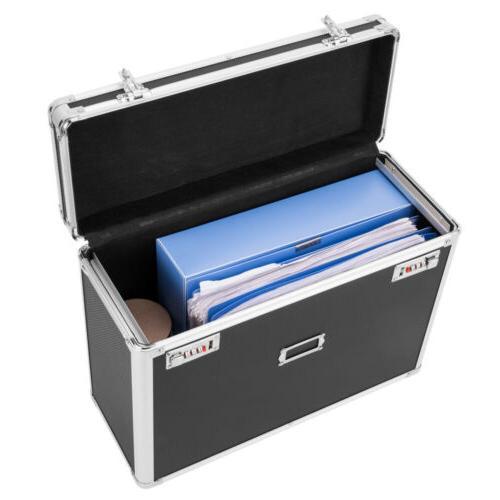 Aluminum Locking Tote for Size Documents Storage Box