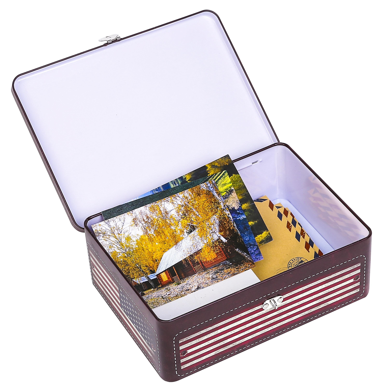 American Storage Box Padlock, Decorative Metal Case