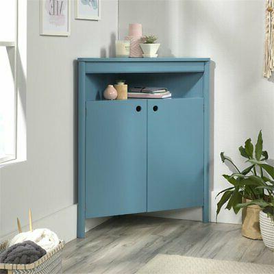 Sauder Anda Norr Storage Cabinet in Blue