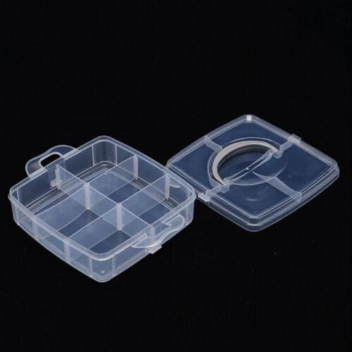 2 Plastic Storage Case Holder