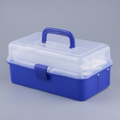 ART SUPPLY TOOL STORAGE BOX PLASTIC CRAFTS HOBBY ORGANIZER
