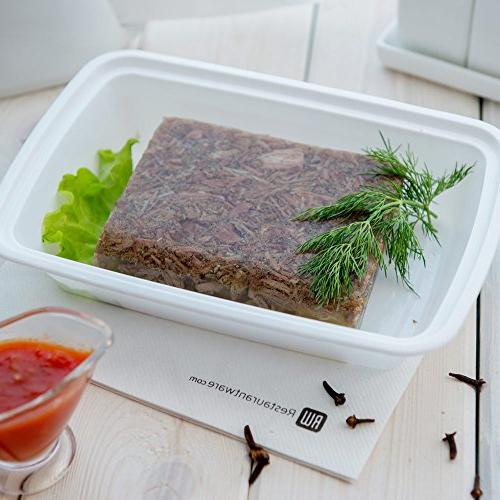 Asporto To-Go Container - Rectangular Container Clear Lid - Catering Takeout - - Plastic - 100ct Box