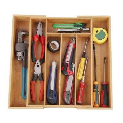 Bamboo Box Kitchen Accessories Drawers Storage