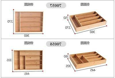 Bamboo Storage Accessories Wood Utensil Drawers