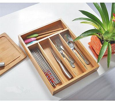 Bamboo Accessories Organizer Utensil