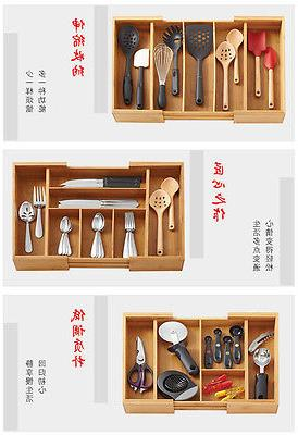 Bamboo Storage Accessories Utensil Drawers