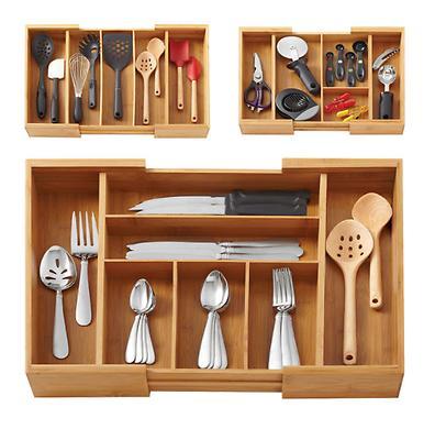 bamboo storage box kitchen accessories organizer wood