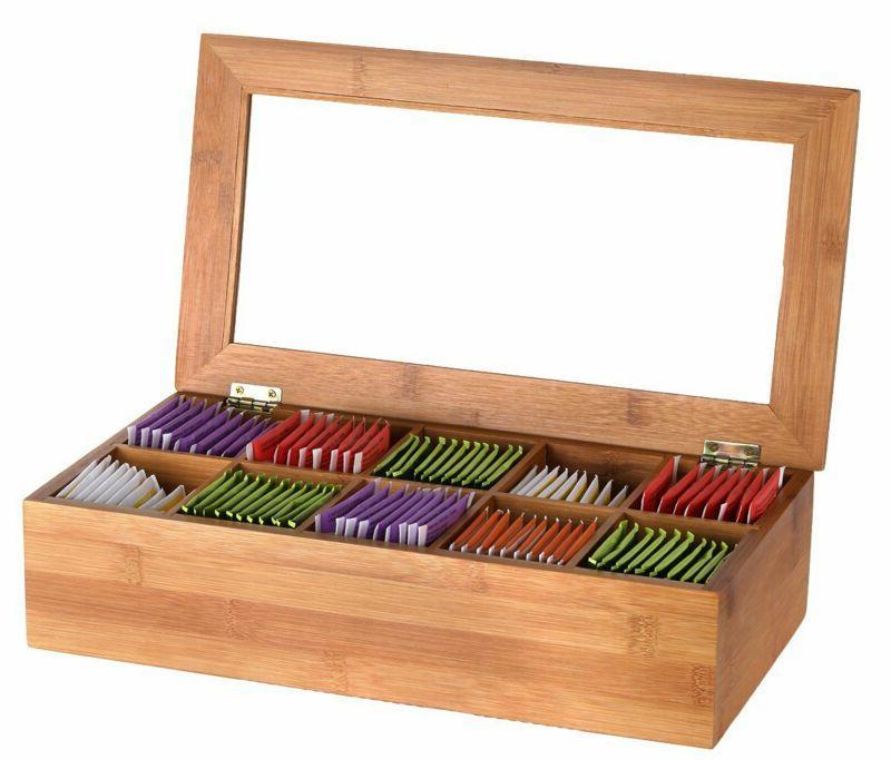 Estilo Bamboo Box, 10 Equally Compartments