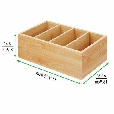 mDesign Food Storage Organizer - 4 Natural