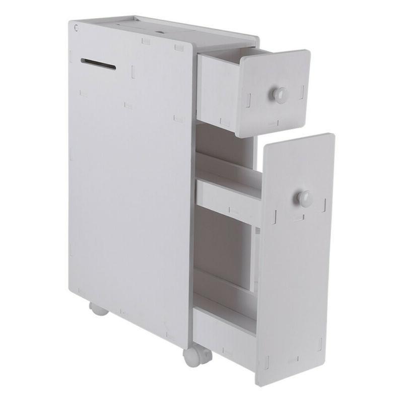 Bathroom Floor Cabinet Toilet Shelf Wood