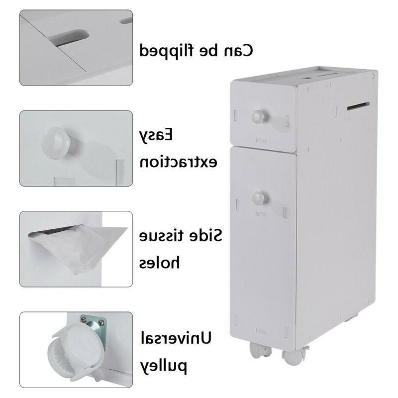 Bathroom Floor Toilet Bath Organizer Drawer Shelf