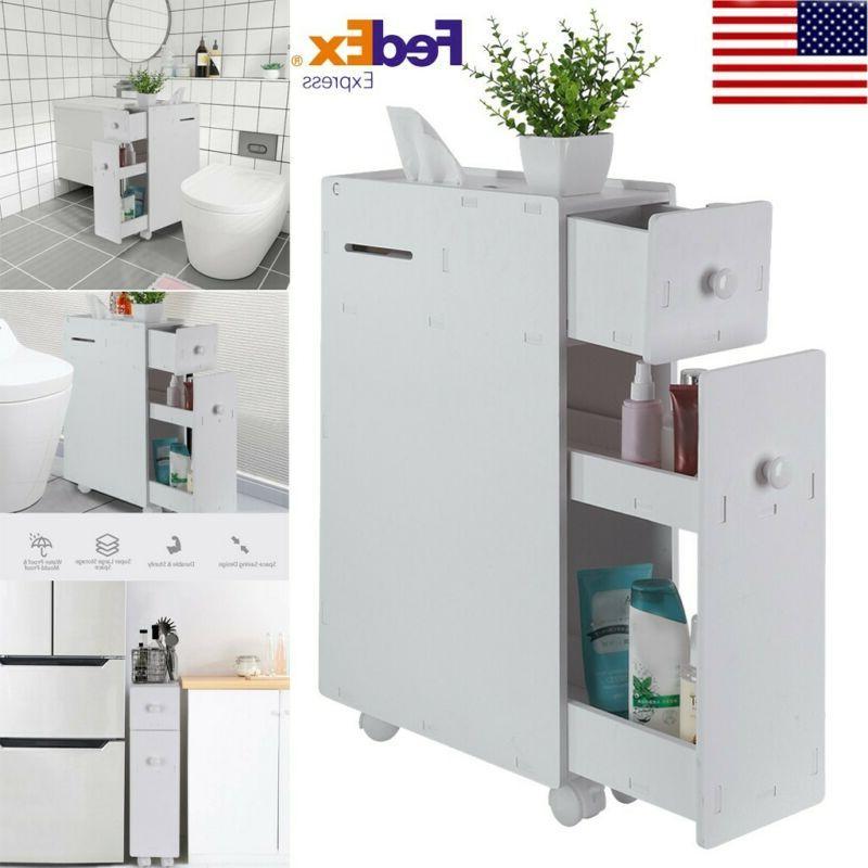 bathroom floor cabinet storage toilet bath organizer