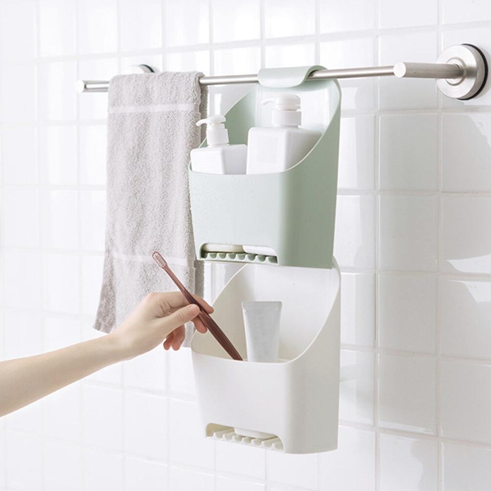 Bathroom <font><b>Box</b></font> Punch Free Drainable <font><b>Basket</b></font> Removable Durable