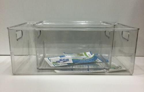 Vanity Storage VERY DURABLE, Clear, Waterproof 2 pc