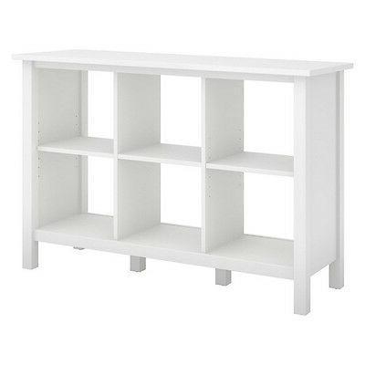 Bush Furniture 6 Cube In Pure White NEW