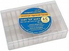 Darice Bead Organiser - 24 storage boxes with flip-top lids