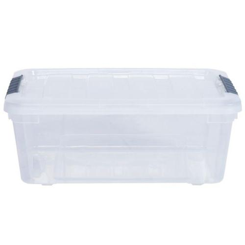 12 Pack Quart Clear Latch Stack Storage Container With