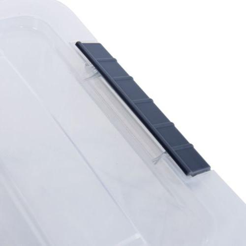 12 144 Clear Plastic Latch Storage With