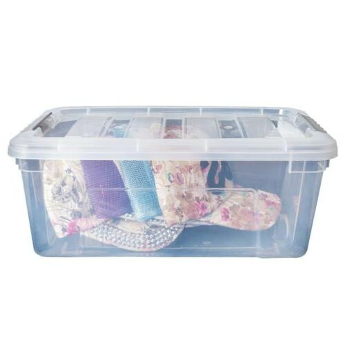 12 Pack Clear Storage Tubs With Lid